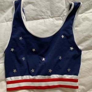 USA crop top from LF stores - worn twice